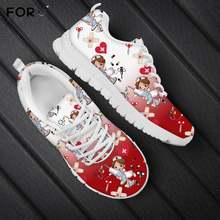 Forudesigns/красные и белые туфли на шнуровке с градиентным