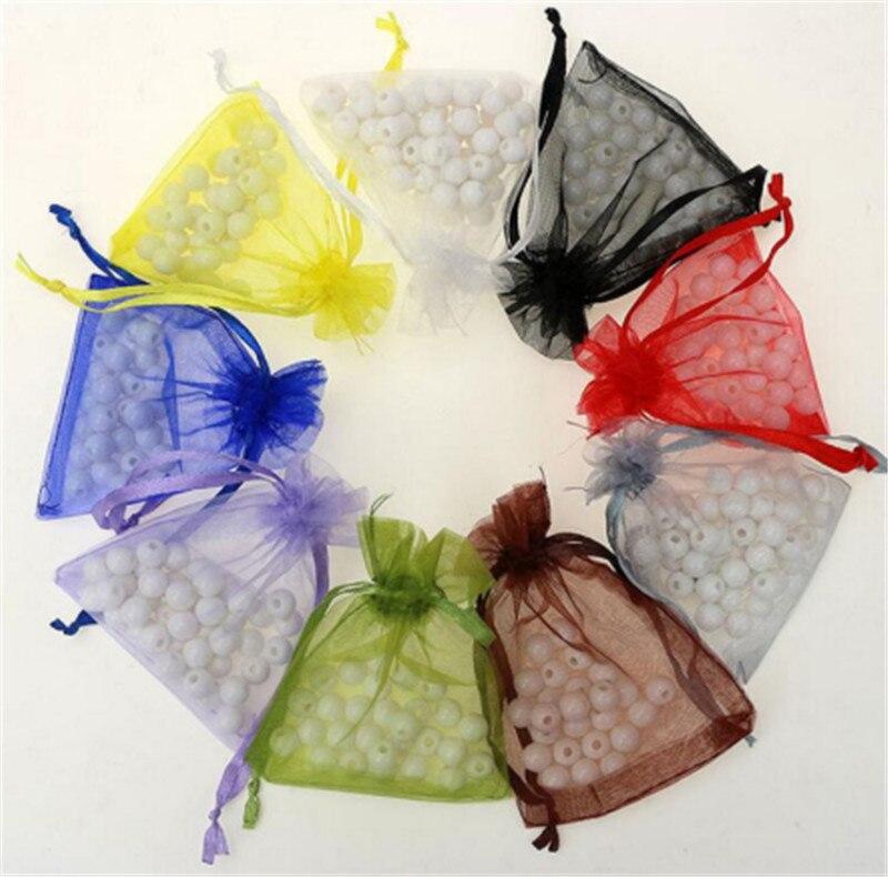 20 шт.-супермолния для сумки 7x9 см для хранения Ювелирная упаковка из органзы сумки вечерние украшение холст мешки подарка красочные