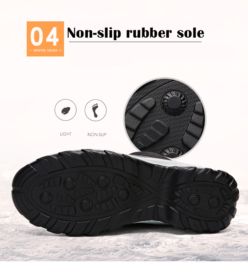 2019 Women Snow boots Waterproof Non-slip Parent-Child Winter Boots Thick Fur Platform Waterproof and Warm Shoes Plus Size 31-42 53