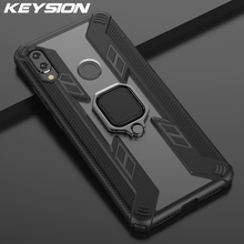 KEYSION Shockproof Armor Case For Xiaomi Redmi Note 7 Pro 7S Stand Car Ring Phone Cover for Mi 8 Lite