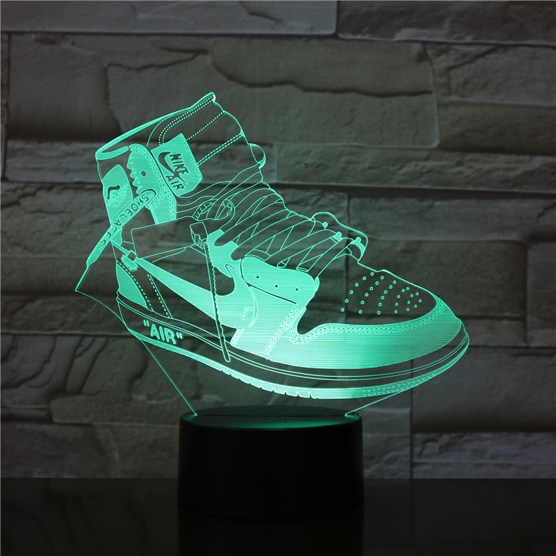 7 Colorful USB Sneaker Shoes 3D  Lamp Kids Bedroom Sleep Lig Colorful USB Sneaker Shoes 3D  Lamp Kids Bedroom Sleep Light LED Ta