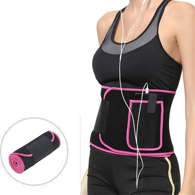 Neoprene Shaper Slimming Fat Burning Waist Support Fitness Waist Sweat Belt For Men Women