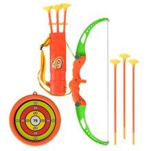 1 Set Interesting Outdoor Shooting Toys Cartoon Kids Imitated Bow Arrow Toys