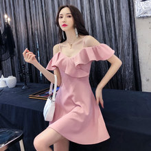 Spring and summer new style Sexy sling A-line dress Open back dress Temperament slim dress недорого