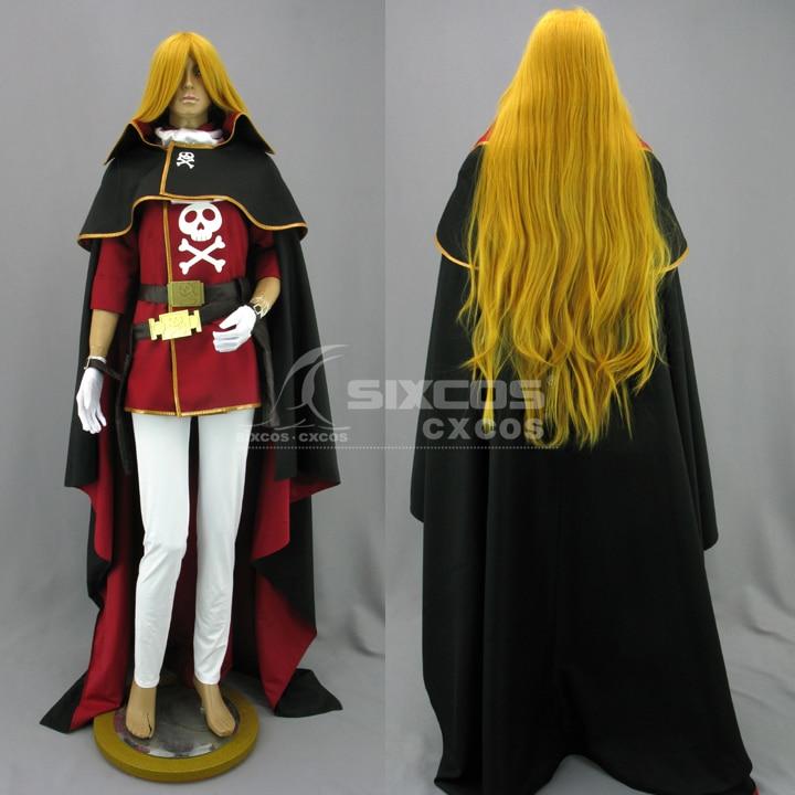 Anime Uchu Kaizoku Captain Harlock Emerar Cosplay Costume Fashion Uniform Suit Women Role Play Prop Clothing Custom-Make Any