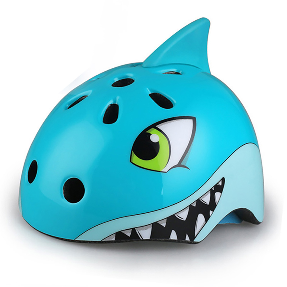 Children Helmets Cute Cartoon Animal 1 Set S Size Gift Protect Outdoor Kid Skating Riding Helmet Animal Shark Cycling  Children