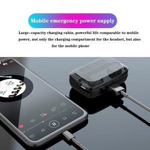 Image 3 - FLOVEME 3300mAh TWS M11 Earphones LED Wireless Bluetooth V5.0 Earphone IPX7 HiFi Headphones Stereo Earbuds Touch Control Headset