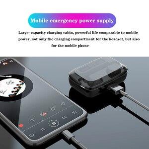Image 4 - M11 TWS Auricolare Bluetooth V5.0 Touch Control Sport Cuffie Senza Fili Auricolare con Microfono 3300mAh Accumulatori E Caricabatterie Di Riserva Per Il telefono