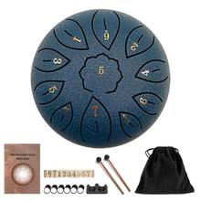 Drum-Pad Percussion-Instruments-Accessories Tongue-Drum-Set Hand-Pan Steel 6inch Tank-Sticks