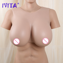 IVITA Artificial Realistic Silicone Breast Forms Silicone Fake Boobs Enhancer for Crossdresser Transgender Drag Queen Shemale