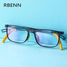 Kids Glasses RBENN Anti-Blue Computer-Eyewear Light Optical-Frame Square Girls Boys New