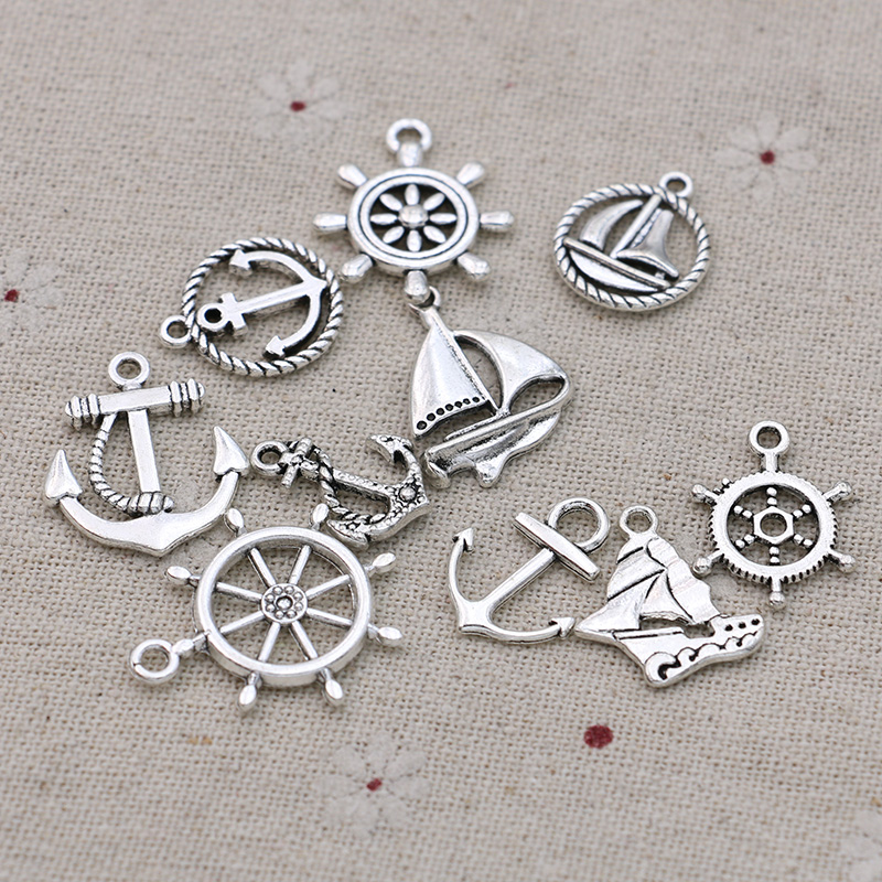 BM497 20pcs antique bronze color 18x16mm metal anchor pendant charm handmade craft jewelry making DIY finding earring necklace drop