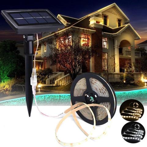 solar powered super brilhante 2835 led luz de tira luzes led flexivel corda solar a