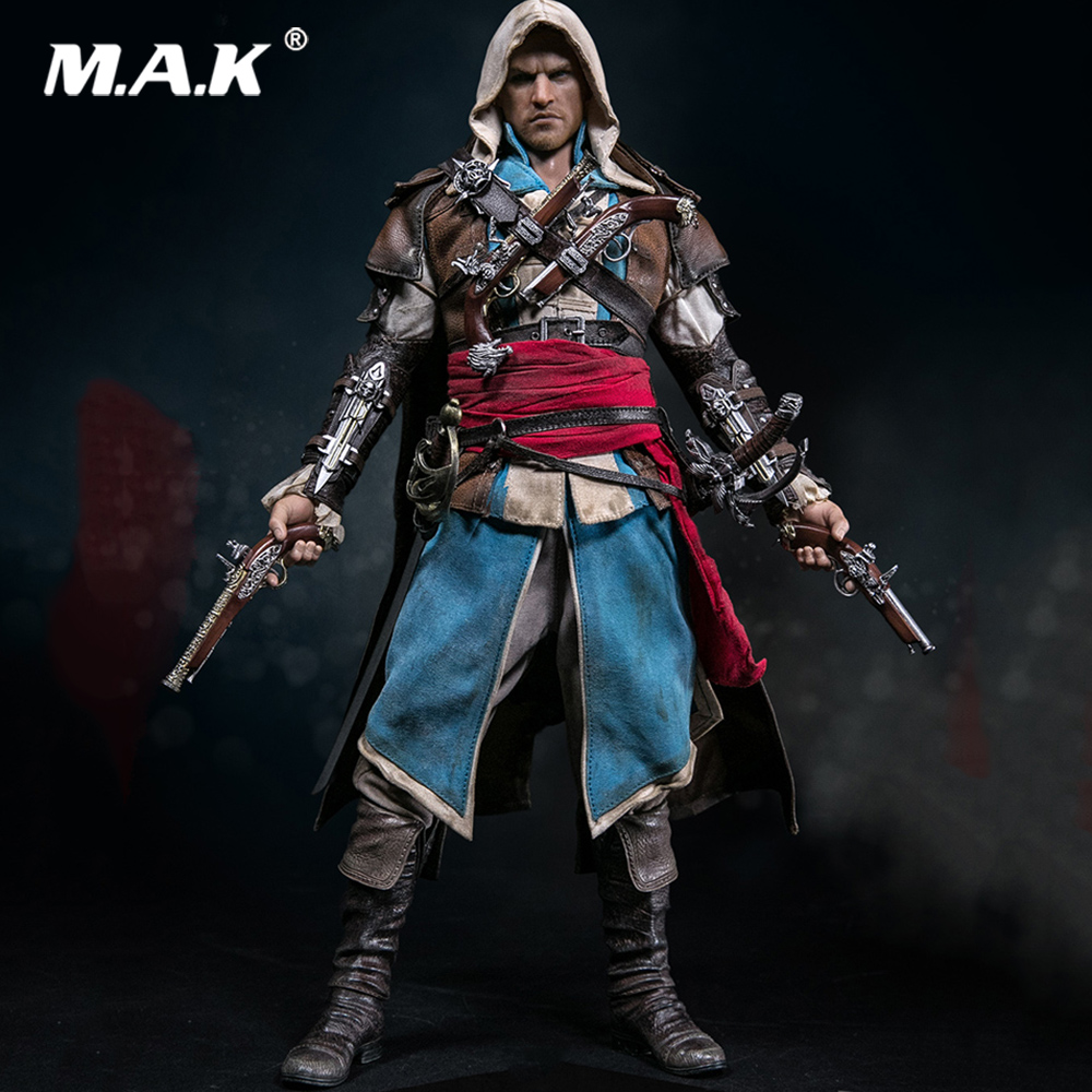 In Stock Collectible Black Flag 1/6 Edward Kenway Full Action Figure Model Head Body Clothes Weapon Accessories for Fans Gifts