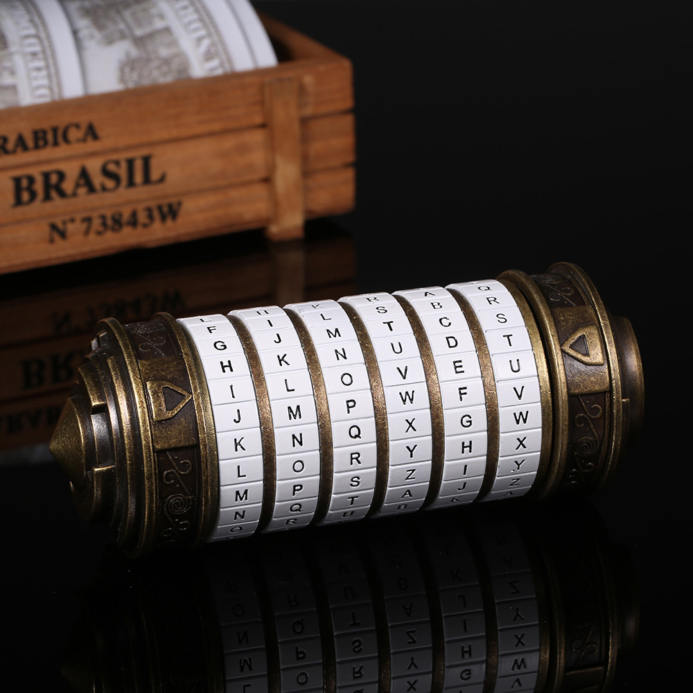 Image 3 - Da Vinci Code Lock Toys Metal Cryptex Locks Retro Wedding Gifts Valentine's Day Gift Letter Password Escape Chamber Props-in Locks from Home Improvement