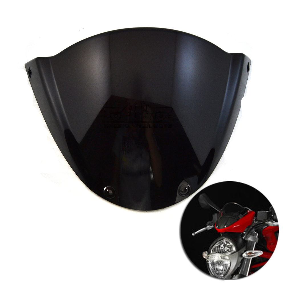 For Ducati Monster 696 Motorcycle Windshield Headlight Street Bikes Windscreen Screen