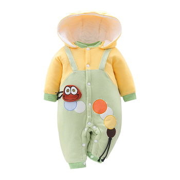 2020 Toddler Baby Boys Girls Clothes Autumn Winter Cartoon Babys Rompers Hooded Newborn jumpsuits infant clothing kids outerwear winter newborn rompers baby girls boys cotton infant hooded warm overalls clothes kids high quality cartoon jumpsuit outerwear
