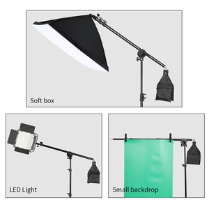 Image 5 - Photo Studio Kit Light Stand Cross Arm With Weight Bag Photo Studio Accessories Extension Rod 53  133CM Or 75 135CM Optional