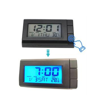 Car Automobile Digital Clock Mini Auto Watch Automotive Month Date Backlight Decoration Ornament for Car Home Bedroom car clock ornaments auto watch air vents outlet clip mini decoration automotive dashboard time display clock in car accessories