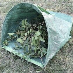 Duży stoczni szufelka typu worek ogrodowy do zbierania liści-wielokrotnego użytku ciężkie torby ogrodnicze  trawnik basen liść ogrodowy worek na odpady