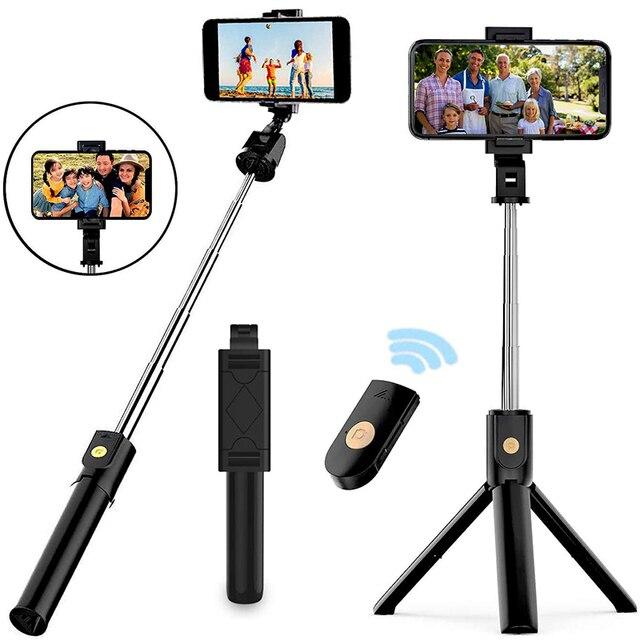 Xiletu 3 In 1 Draadloze Bluetooth Selfie Stick Opvouwbare Mini Statief Uitbreidbaar Monopod Met Afstandsbediening Voor Iphone Ios Android