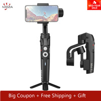 MOZA Mini S Foldable 3 Axis Handheld Gimbal Stabilizer for IOS10.0 iPhones Andriod 8.1 Smart Phones Gopro 5/6/7