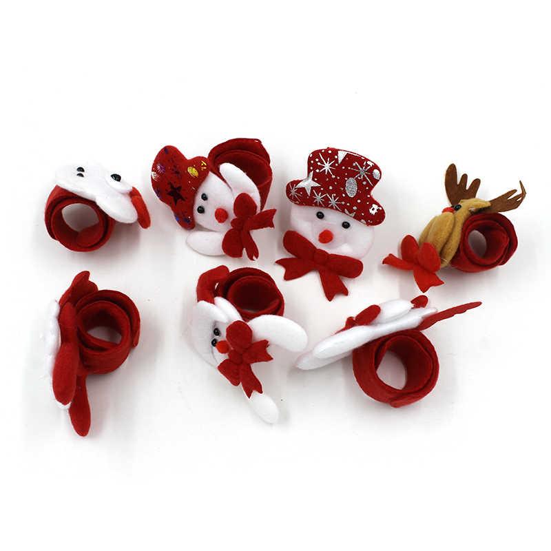 XCONNYX 1PCS Di Natale Decorazioni Di Natale Accarezzando Cerchio Di Natale Per Bambini Regalo di Natale Babbo Natale Pupazzo di Neve Cervi Partito di Nuovo Anno Giocattoli