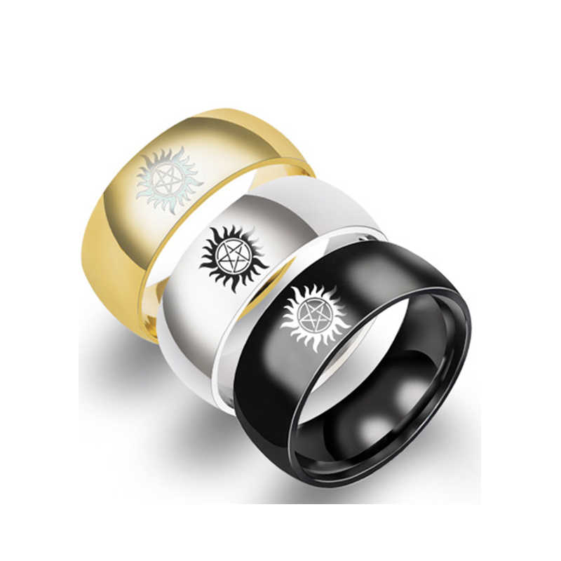 Sun Power Supernatural Ring Titanium Steel Ring For Men Jewelry Wedding Engagement Gifts Accessories