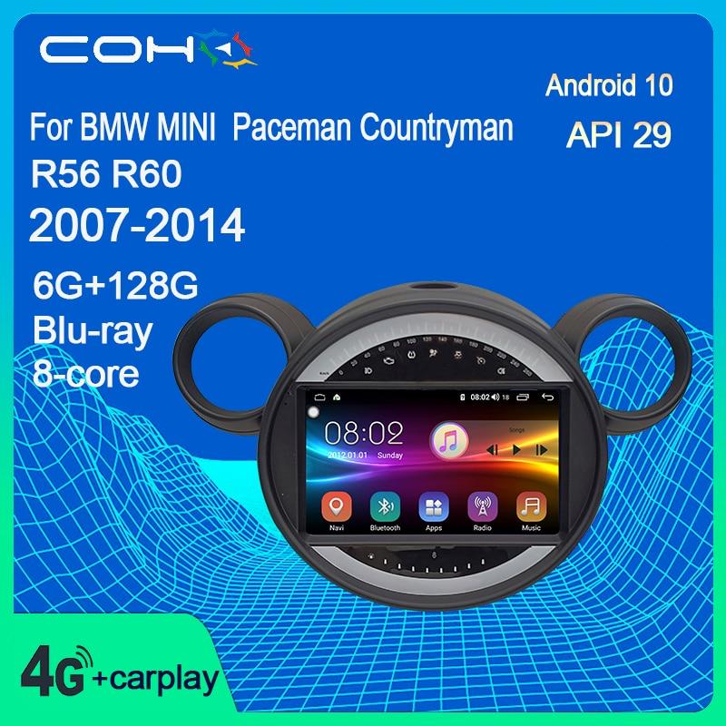 Автомобильный мультимедийный видеопроигрыватель с GPS-радио для BMW MINI Paceman Countryman R56 R60 2007-2014 Android 10