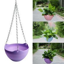 Полимерные подвесные корзины для растений, цветочный горшок, корзина, подвесной контейнер для растений, садовая растительная вешалка настенная декоративная домашняя Декорация