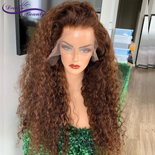 Brown Color Curly Hair 13X6 Lace Front Hair Wigs With Baby Hair 8-24INCH PrePluc