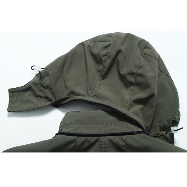 DIMUSI Men's Jackets Casual Outwear Hiking Windbreaker Hooded Coats Fashion Army Cargo Bomber Jackets Mens Clothing 5