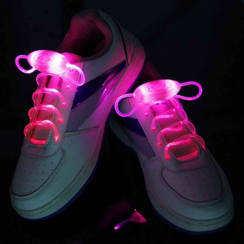 1 par de luces de neón de Color múltiple ICOCO de 80CM, cordones brillantes para zapatos, hermosas luces de neón de alta visibilidad para