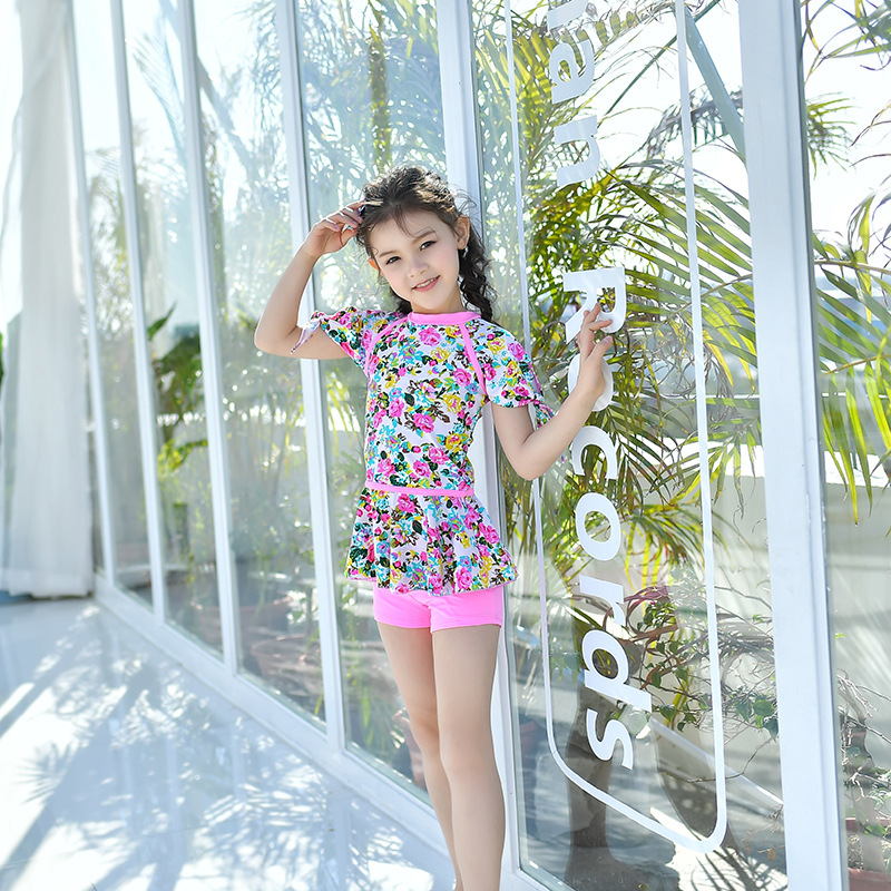 South Korea New Style Girls' Two-piece Swimsuit Princess Dress-Big Boy GIRL'S Students Fashion Aesthetic Tour Bathing Suit Sun-r