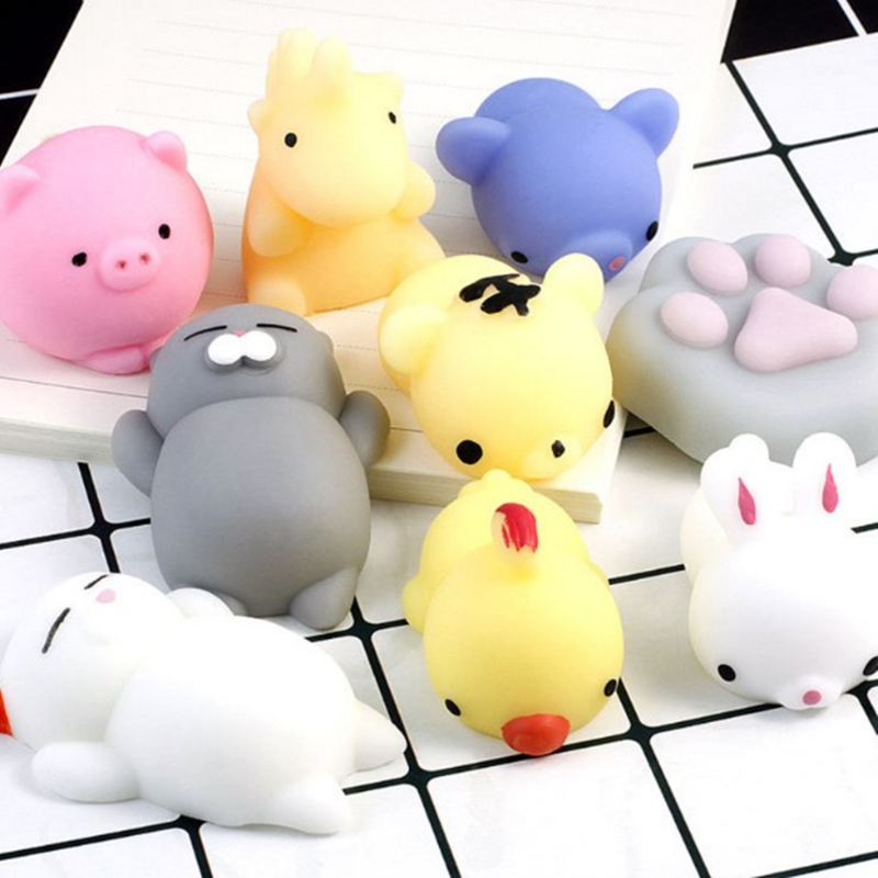 Squishy Animal Antistress Toys Slimy Squeeze Toys Cute Antistress Ball Abreact Soft Sticky Stress Relief Funny Toys For Children