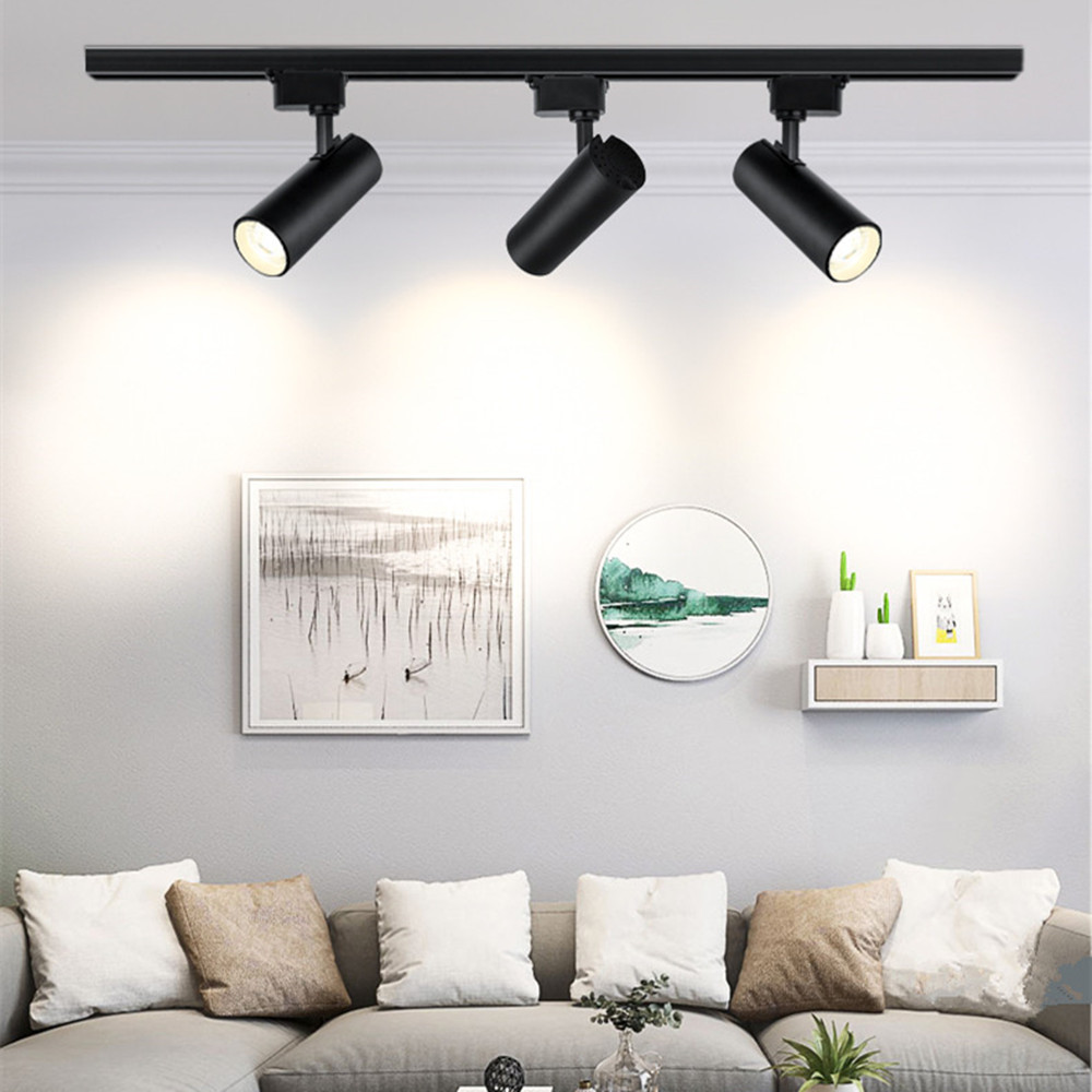Led Track Light 12W 20W 30W 40W Track Light Lamp Fixture Spot Ceiling Lamp Spotlight Rail Lighting 220V For Shop Kitchen Room
