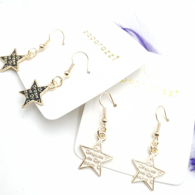 Новые простые модные серьги капли со звездой «Мечта» пятиконечная