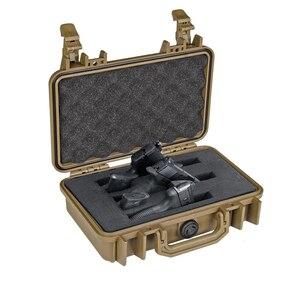 Portátil à prova dportable água resistente ao impacto caso de arma paintball duro carry kits ferramenta armazenamento caixa segurança protetor organizador acessórios|Coldres|Esporte e Lazer -