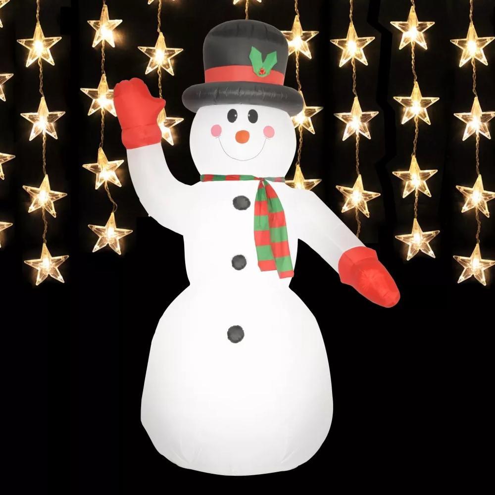 VidaXL Weihnachten Dekoration Aufblasbare Schneemann Santa Mit LED Licht IP44 300cm Helle Frohe Weihnachten 2019 Neue Jahr Dekorationen - 4