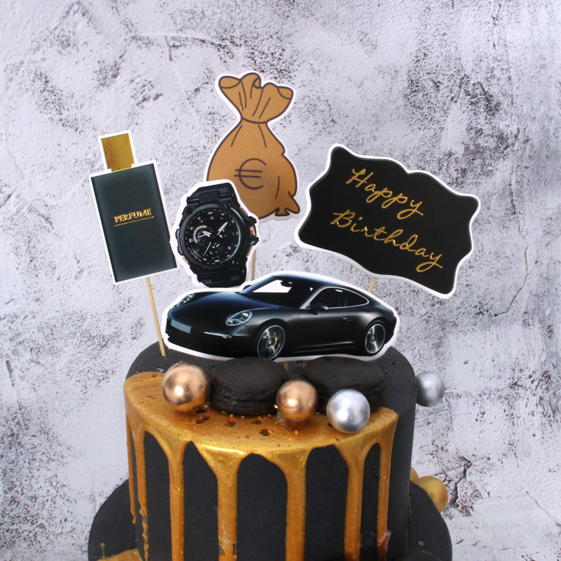 Pleasant 2020 Luxury Car Happy Birthday Cake Topper Money Dream Birthday Personalised Birthday Cards Veneteletsinfo