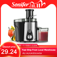 Presse agrumes électrique, extracteur de jus et de fruits, presse fruits, 2 vitesses, en acier inoxydable, 220V, pour la maison Sonifer