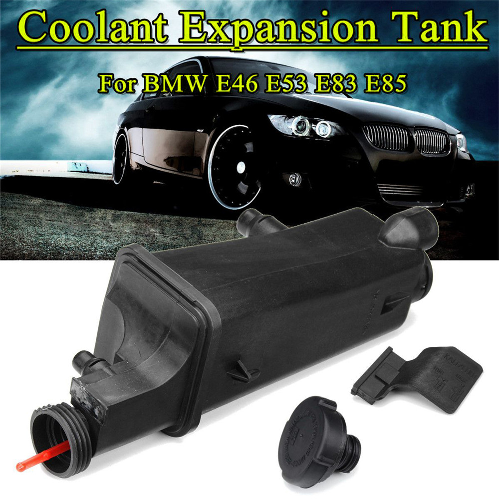 Radiator Coolant Overflow Expansion Tank Bottle Reservoir For Bmw E46 E53 E83 Recovery Expansion Tank w/Cap <font><b>17117573781</b></font> image
