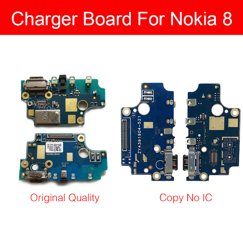 Usb Charging Jack Port Board For Nokia 8 TA-1012 Power Charger Connector Module Flex Cable Phone Repair Replacement Parts