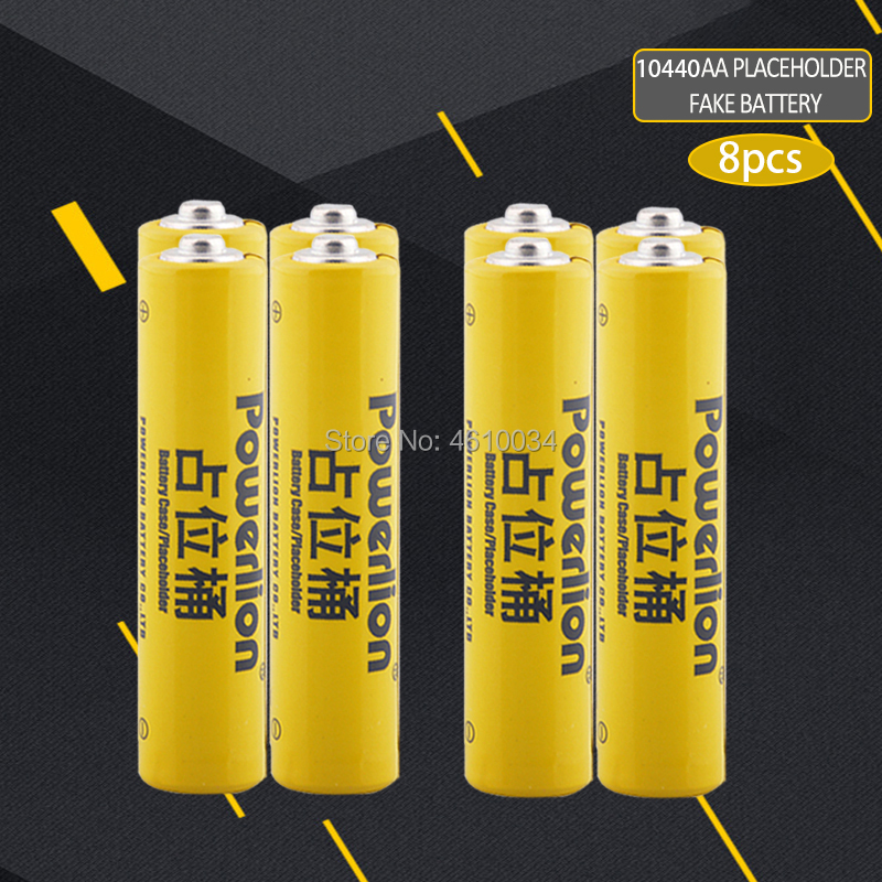 8pc 10440 li-ion lithium dummy fake battery for Lithium iron phosphate battery AAA battery setup dummy cells Placeholder image
