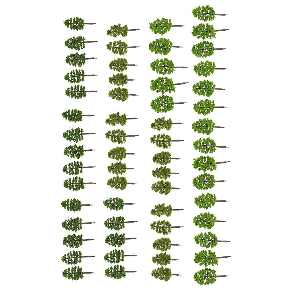 60 шт. деревья модель лес для изготовления аксессуаров n масштаба 1 150 игрушечная железная дорога железной дороги пейзажа диорамы или расклад...