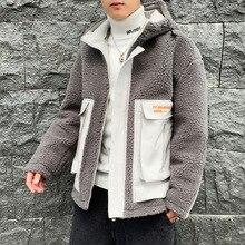 Зимнее Мужское пальто с воротником-стойкой ke li rong, толстое хлопковое пальто с начесом, трендовая хлопковая стеганая куртка в Корейском стиле для подростков