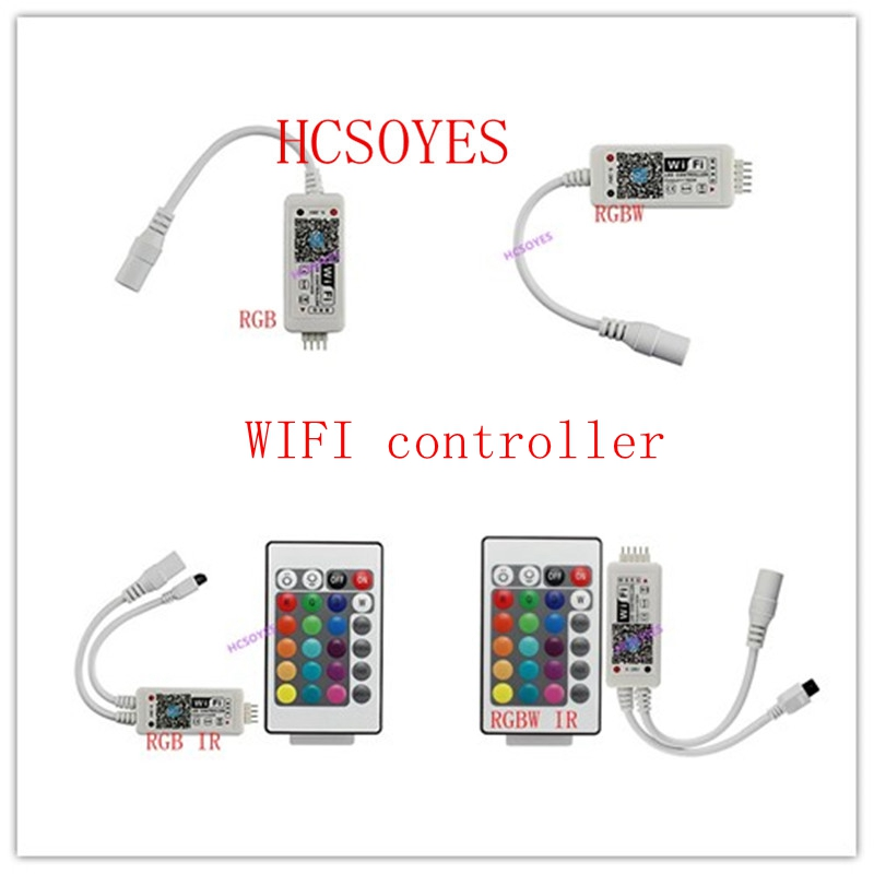 16Million Colors Control Music Wifi RGB / RGBW Led Controller Smartphone And Timer Mode Magic Home Mini Wifi Led Rgb Controller