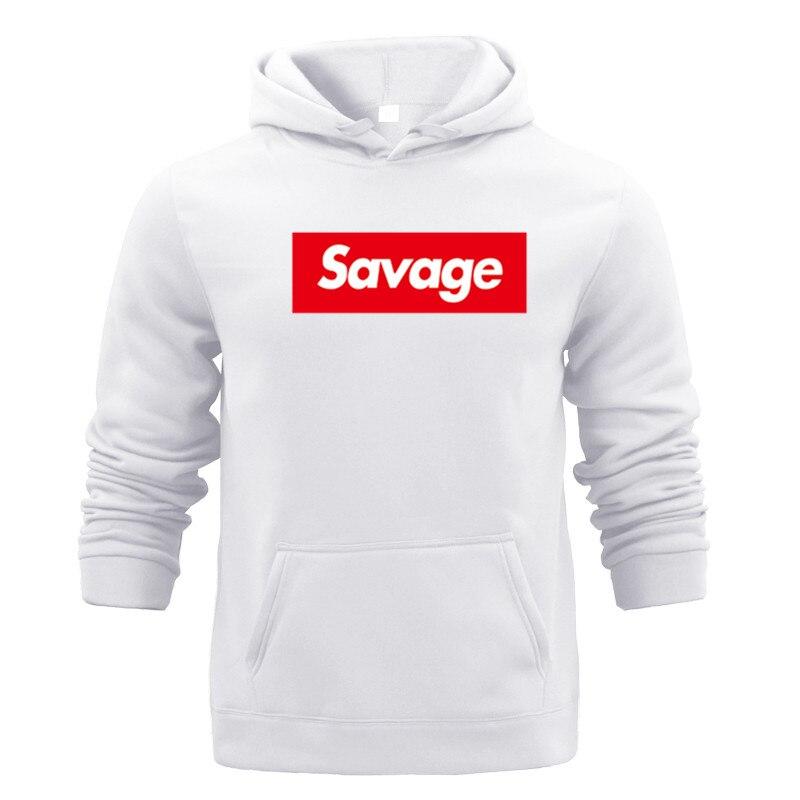 2019 New Mens Hoodies Savage Cotton Long Sleeved Hoodies Sportswear Hoodies Parody No HeartSavage Mode Slaughter Gang ATL