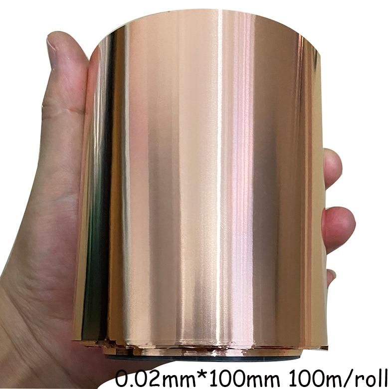 Folha de cobre pura do rolo fino
