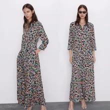 Chiffon Dress Bandage Short-Sleeve Print Stripe Womens for Lapel Shirt Ladies E2 Chic